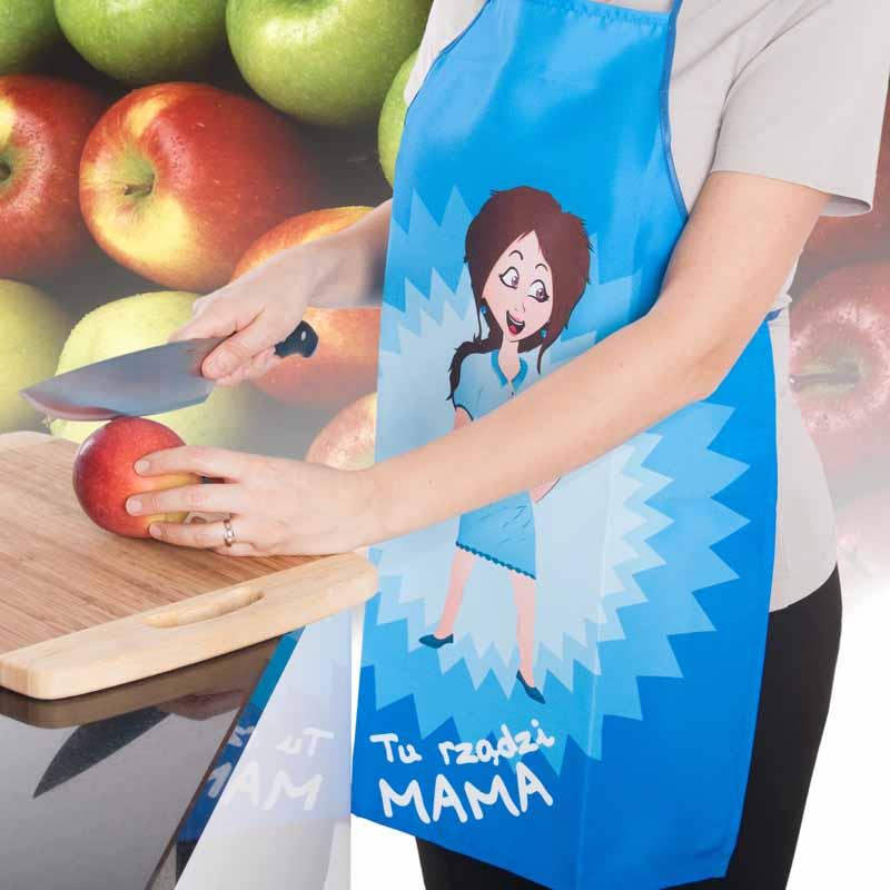 Fartuszek Kuchenny Tu Rządzi Mama - idealny prezent dla mamy