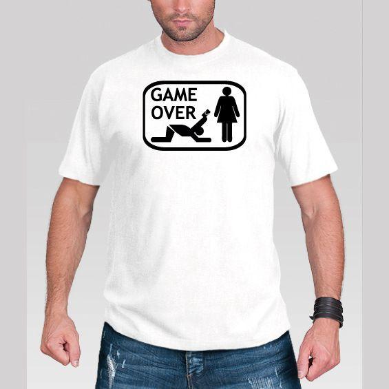 Koszulka Game Over Prezent na Wieczór Kawalerski