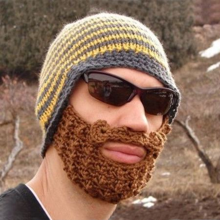 Czapka z brodą śmieszny prezent dla niego