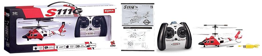 Helikopter Ratunkowy RC Syma S111G Prezenty dla dzieci