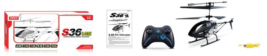 Helikopter RC Syma S36 prezenty dla niego