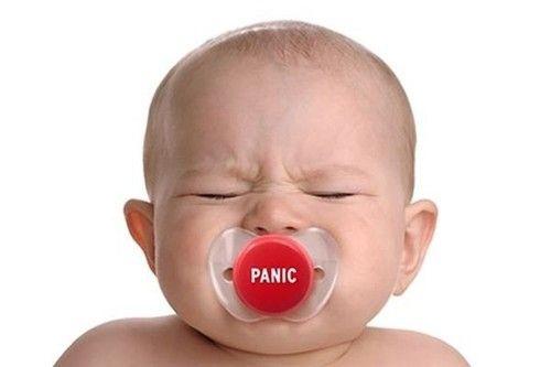 Smoczek Panic śmieszny prezent dla dzieci i ich rodziców
