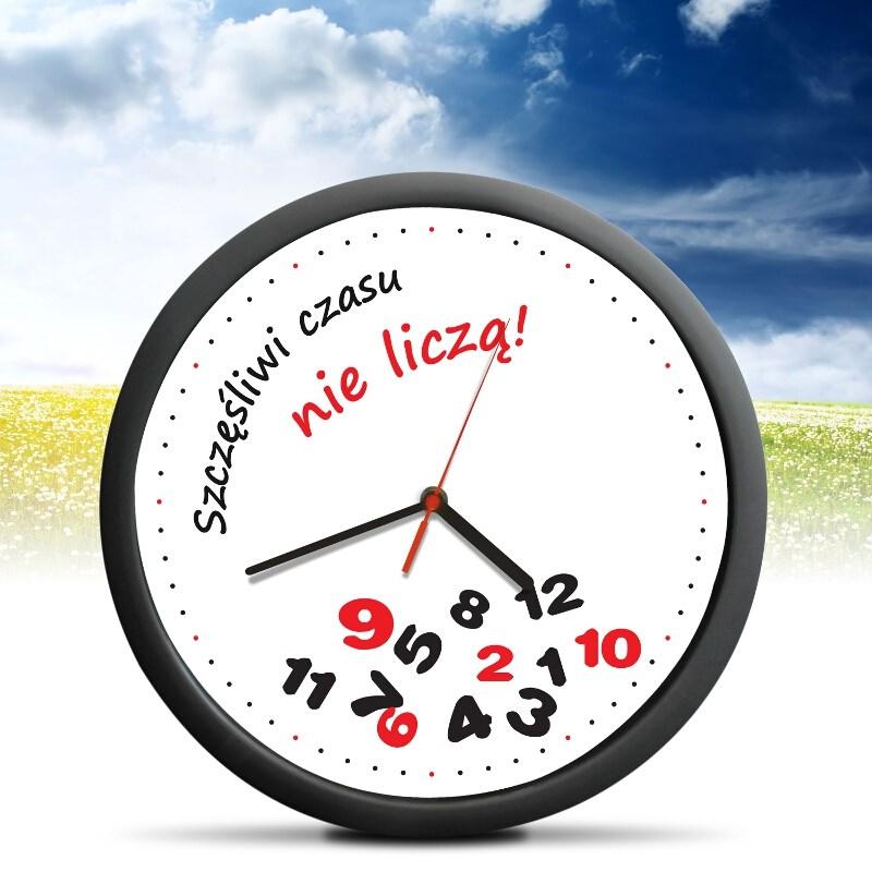 Zegar Szczęśliwi Czasu Nie liczą Prezent na 18