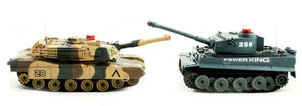 Wojna Czołgów Zdalnie Sterowany German Tiger i Abrams idealny pomysł prezentu dla chłopca