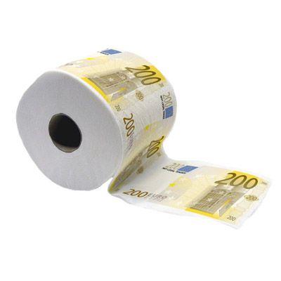 Papier toaletowy 200 euro - śmieszny prezent