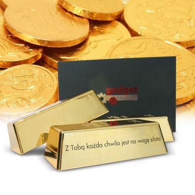 Złota sztaba  z dedykacją sklep z prezentami warszawa