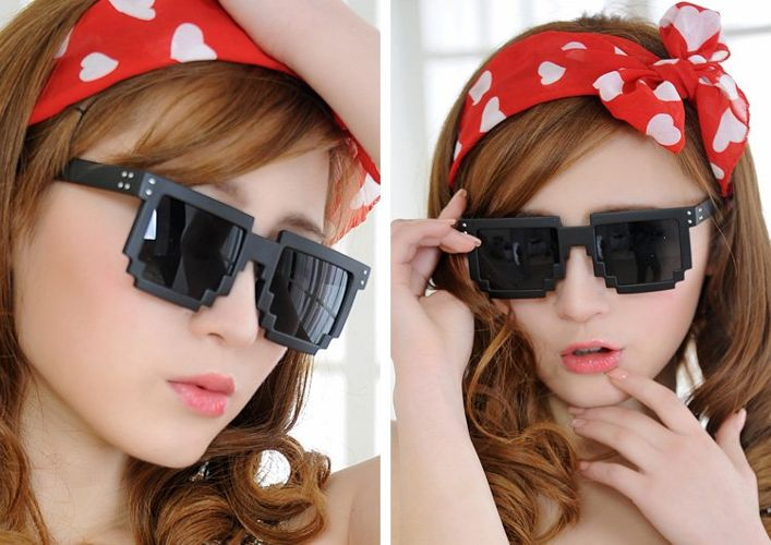 Pikselowe Okulary 8bit czarne warszawa prezenty