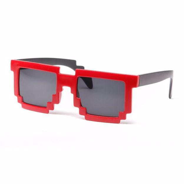 Picture of Pikselowe Okulary 8 bit - Czerwone