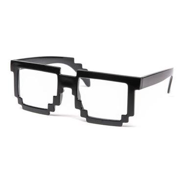 Obrazek Pikselowe Okulary 8 bit - Przezroczyste