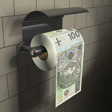 Obrazek Papier Toaletowy 100 zł XL