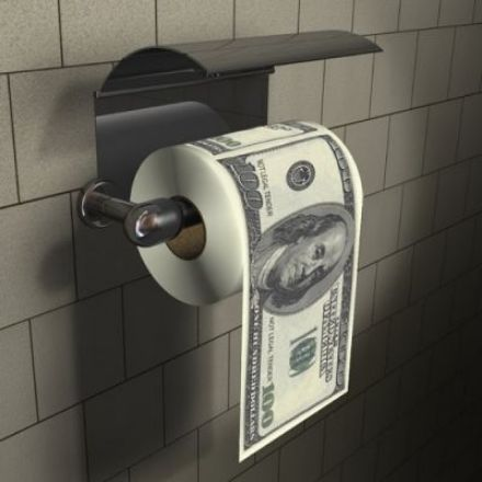 Obrazek Papier Toaletowy 100 Dolarów