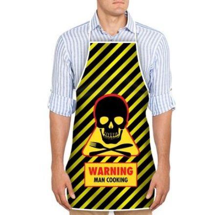 Obrazek Fartuszek Warning Man Cooking