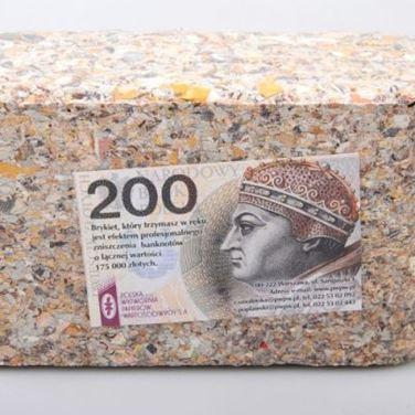 Obrazek Brykiet Prawdziwych Pieniędzy 150 000 zł