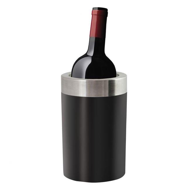 Cooler do wina i butelek invotis czarny prezent dla niego
