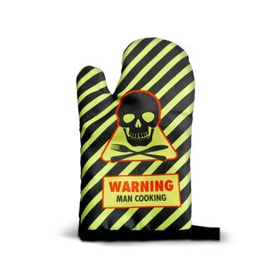 Obrazek Rękawica - Warning Man Cooking