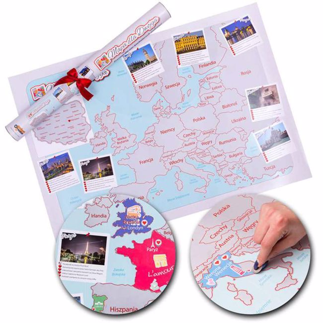 Picture of Mapa Zdrapka dla Zakochanych