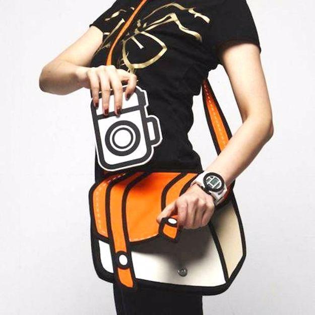 Kreskówkowa torba 3d pomarczowa prezent dla niej warszawa