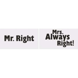 Picture of Tabliczka Mr.Right Mrs.Always Right