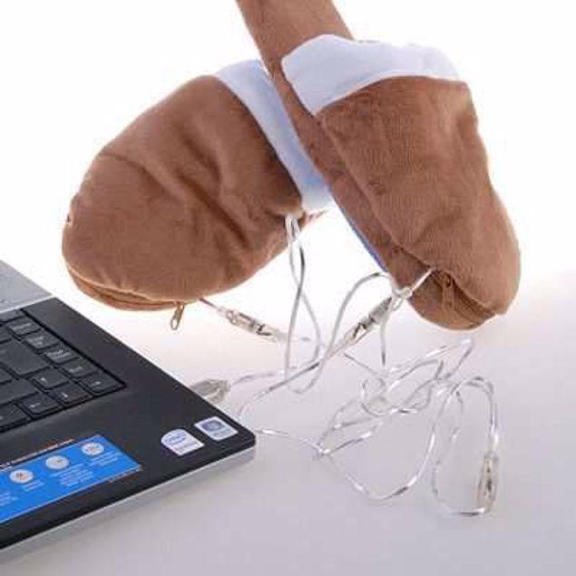 Obrazek Grzejące kapcie USB
