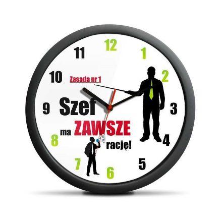 Zegar dla szefa wersja polska prezent dla niego