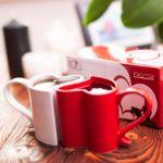 Zakochane kubeczki biało-czerwone prezent dla niej