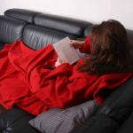 Kocyko-szlafrok czerwony prezent dla mamy warszawa