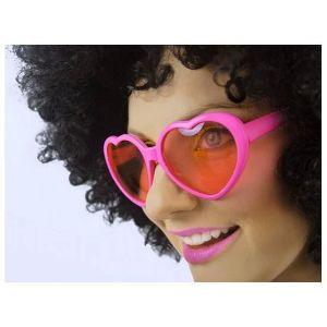 Okulary serca różowe gadżety imprezowe