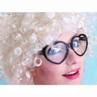 Okulary serca czarne gadzety imprezowe warszawa