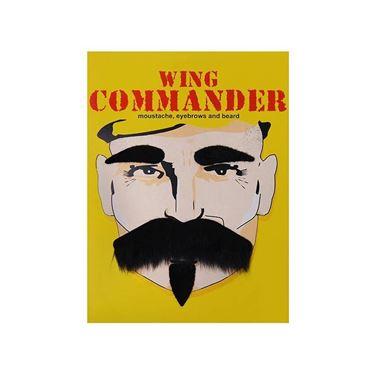 Samoprzylepne wąsy i brwi komandora gadzety imprezowe warszawa
