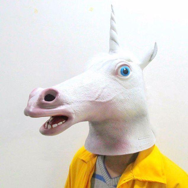 Maska jednorożca gadżety imprezowe