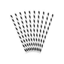 Papierowe słomki czarne gadżety imprezowe warszawa