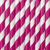 Papierowe słomki różowe gadżety imprezowe warszawa