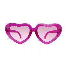 Okulary Duże Serca różowe gadżety imprezowe warszawa
