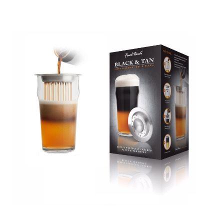 Black&Tan – Szklanka Nonic z Nakładką pomysł na prezent dla mężczyzny
