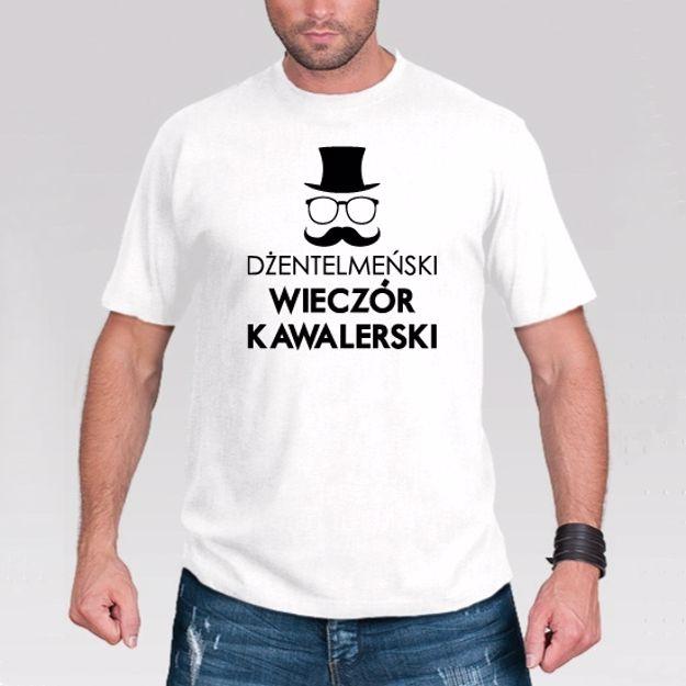 Koszulka – Dżentelmeński Wieczór Kawalerski gadżety na wieczór kawalerski