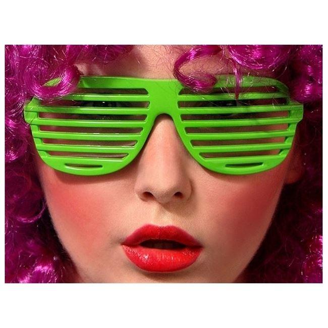 Okulary żaluzje zielone gadżety imprezowe