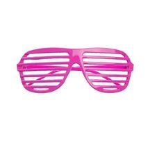 Okulary żaluzje jasnoróżowe gadżety imprezowe