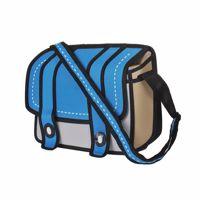 Kreskówkowa torba 3d niebieska prezent dla niej
