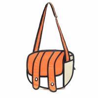 Kreskówkowa torba 3d pomarańczowa prezent dla niej