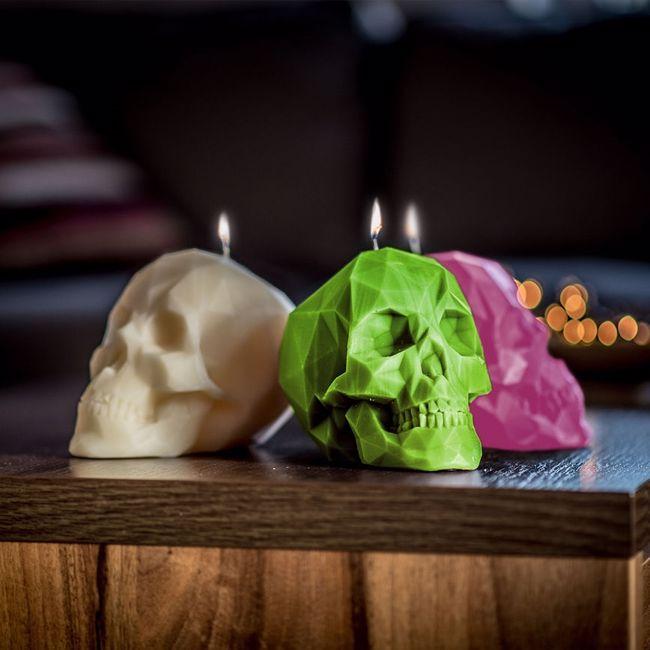 Świeca czaszka refleksji życia inspiracji warszawa