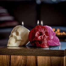 Świeca czaszka bordowa prezent dla niej