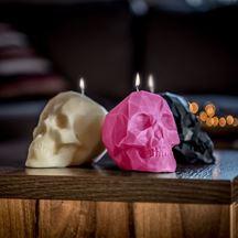Świeca czaszka różowa prezent dla niej