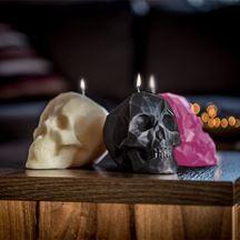 Świeca czaszka czarna prezent dla niego