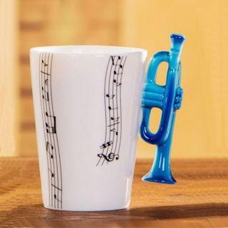 Kubek muzyka trąbka prezent dla niego
