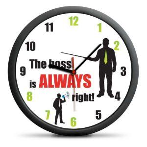 Zegar szefa wersja angielska prezent dla niego