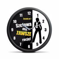 Zegar szefowej wersja polska prezent dla niej