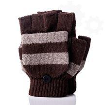 Grzejące rękawiczki usb brązowe prezent dla niej