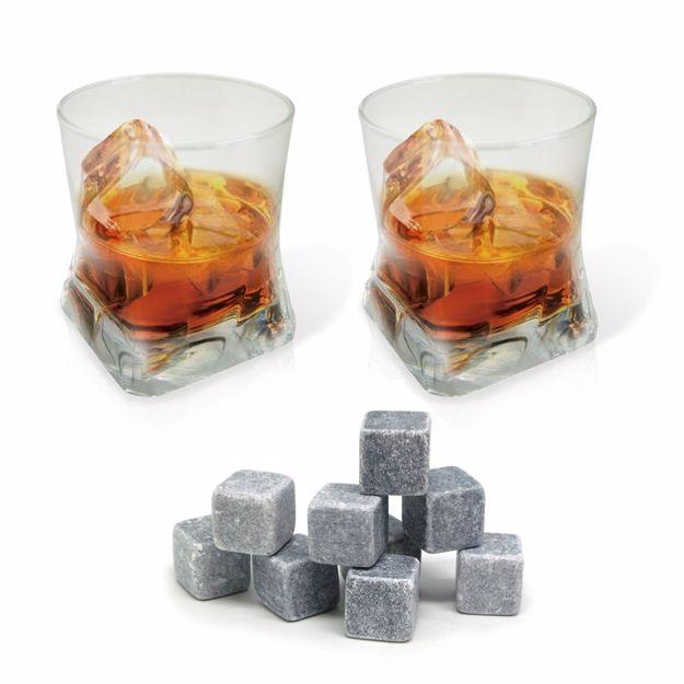 Zestaw do Whiskey Vinbouquet dwie szklanki i kostki prezent dla szefa