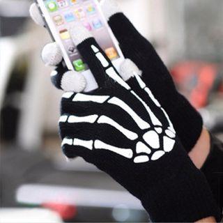Rękawice szkieletora do smartphone prezent dla niego