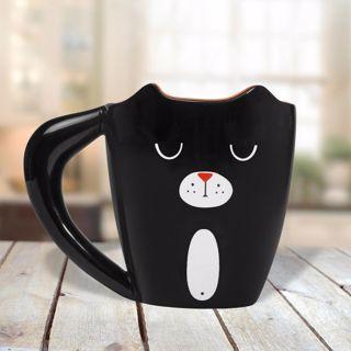 Czarny Kot kubek prezent dla niej